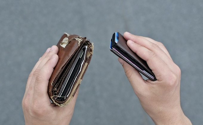 Regular wallet with NERO wallet inside & NERO wallet