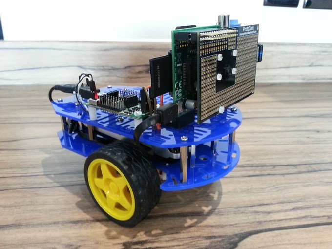 Fit one to a robot chassis for a robot camera!