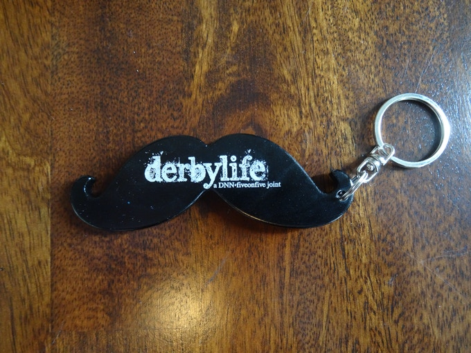 Limited-edition Derbylife mustache bottle opener. You know you want one!