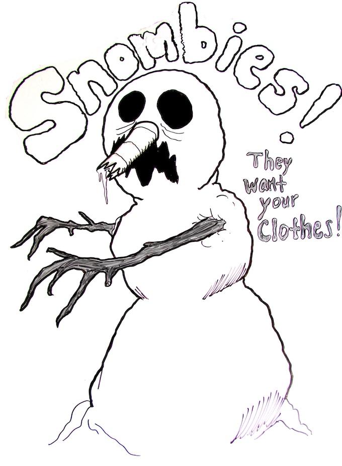 It's a SNOMBIE!!!!!