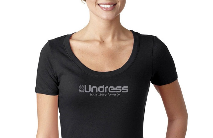 A fitted, soft & comfortable cotton Kickstarter exclusve t-shirt available in Women's XS-XL.  Be a part of The Undress Founders Family, and wear it loud and proud!