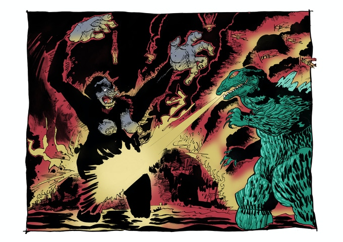"""You Made Me Drop Her You Dirty Great Lizard!"".Limited Edition Classic Monster Print."