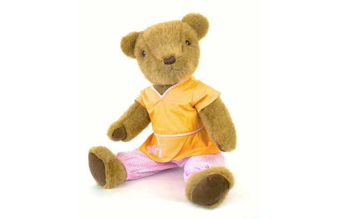 An example of Katie's great design work, the popular Bear's Pajamas outfit!