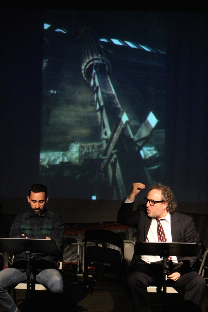 Matt Pilieci and Clyde Baldo reprise their rolls for The Fordham Alumni Company's New Works Series (Photo Credit: Dawn McDonald)
