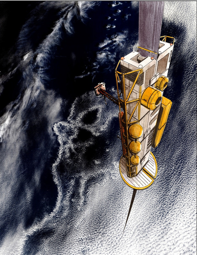 LiftPort's ultimate goal: an elevator climbing from Earth to space. For now, they're focusing on a Moon-based elevator.