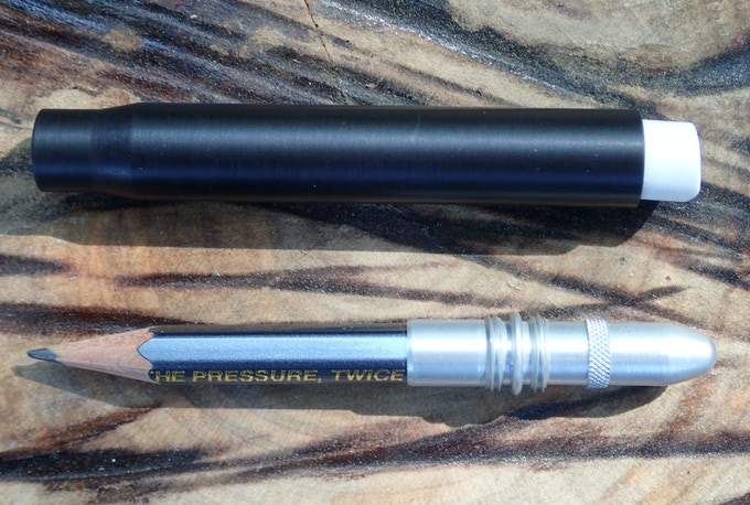 Twist Bullet Pencil with Aluminum #9 Round Bullet, Shown in matte black