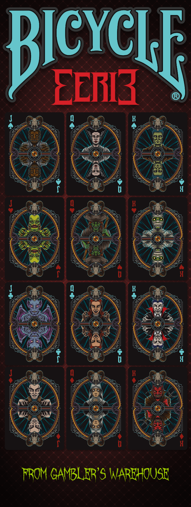 Bicycle Eerie Court Cards