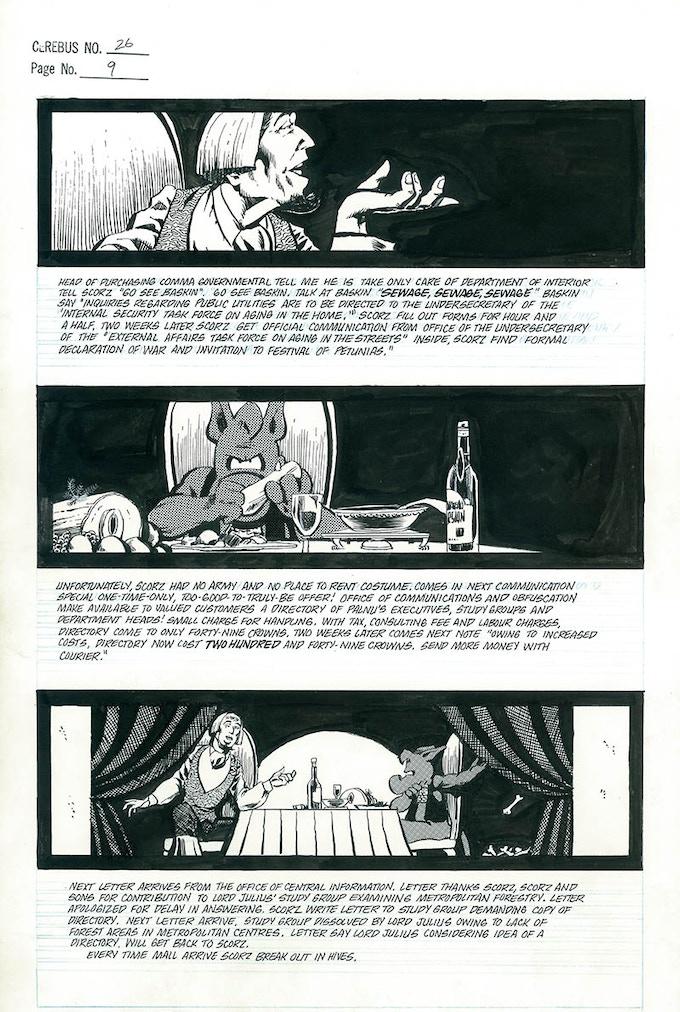 Plate #1 - CEREBUS No. 26 page 9