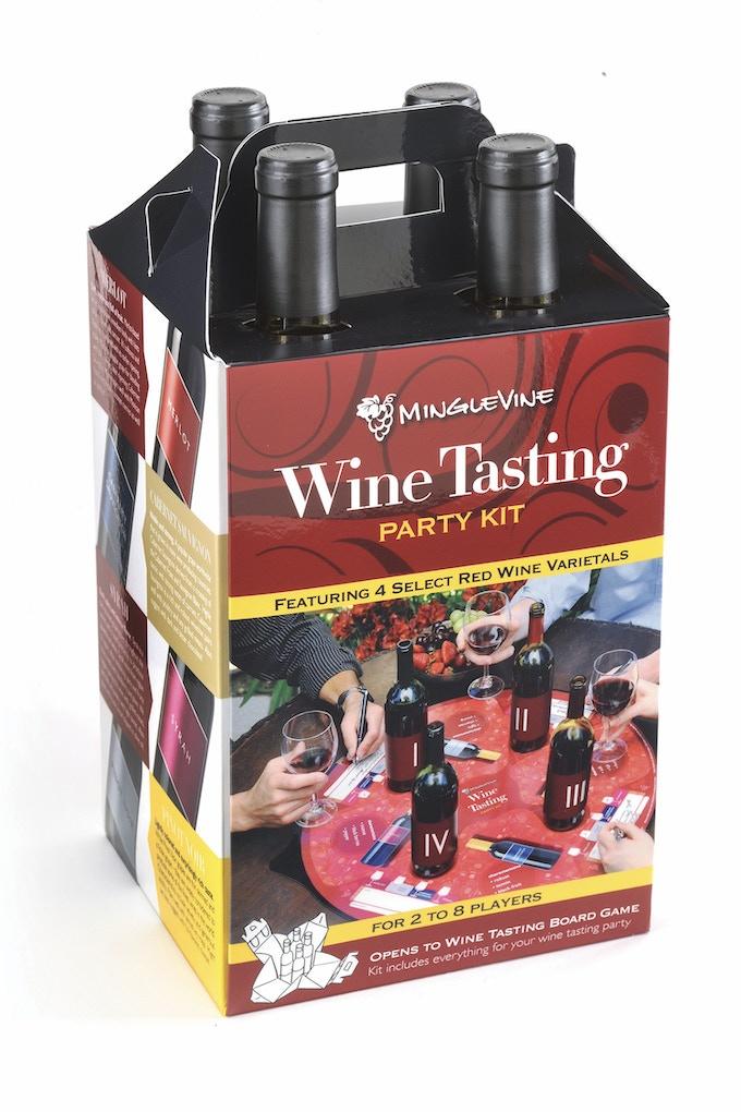 Wine Tasting Party Kit / 4 - Bottle Wine Carrier