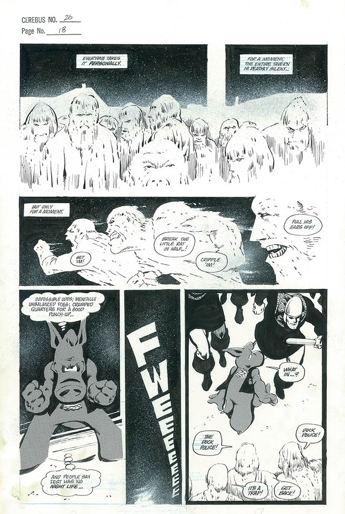 Plate #4 - CEREBUS No. 26 page 18