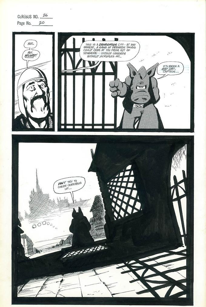 Plate #6 - CEREBUS No. 26 page 20