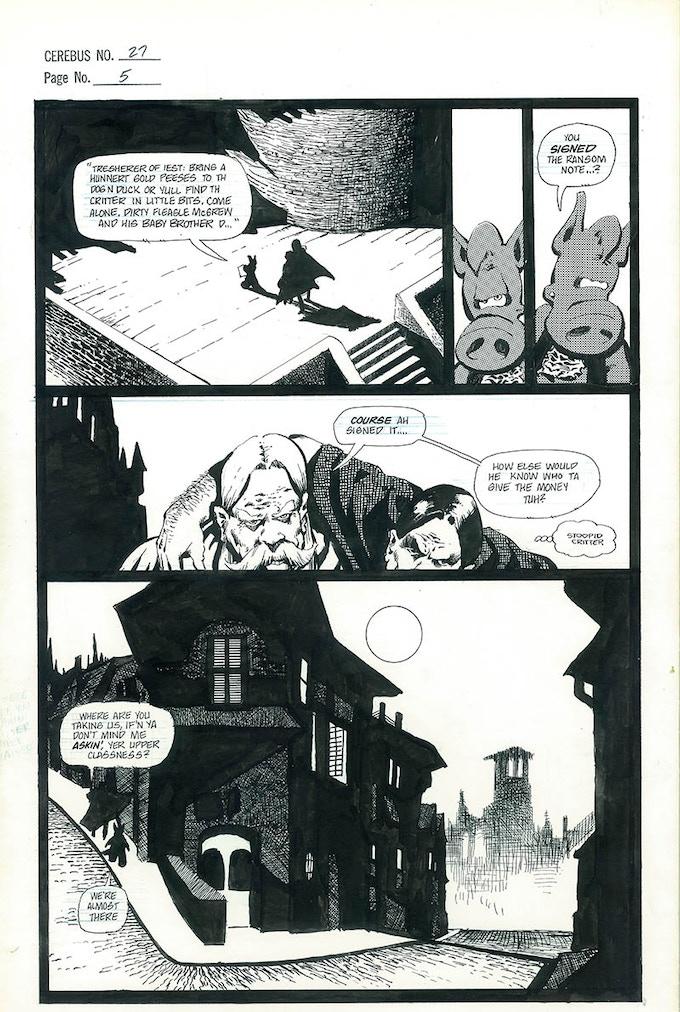 Plate #7 - CEREBUS No. 27 page 5