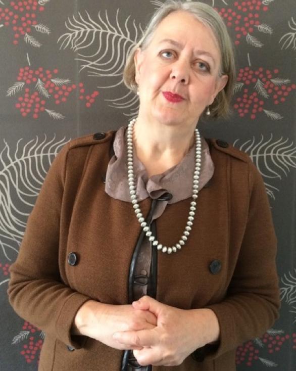 """Boel Larsson as Elsa Ullman (""""Halvvägs till Himlen"""", """"BBC Wallander"""")"""