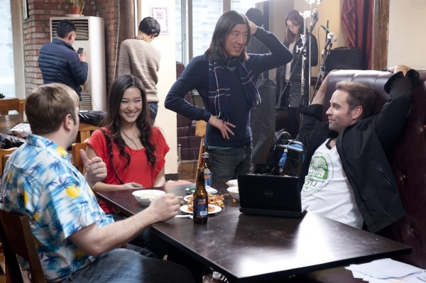 Quick Breather Between Takes (Scotty Cox, Kara Wang, Victor Muh, Murray Clive Walker)