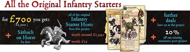 Save over 45% off the items within! Choose eleven infantry starter hosts from those shown.