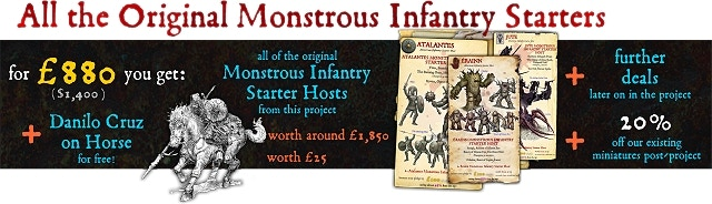 Save over 45% off the items within! Choose eleven monstrous infantry starter hosts from those shown.