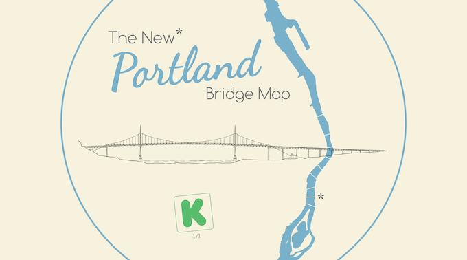 The New Portland Bridge Map By Nick Martinelli Kickstarter - Us bridge map