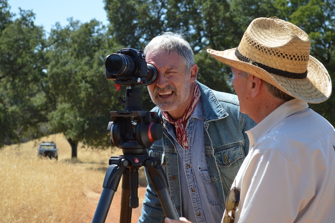 Perry King lines up a camera test for The Divide