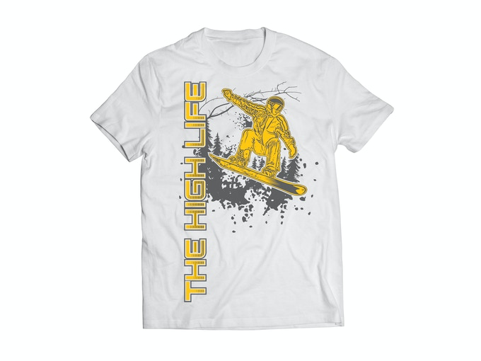 The High Life™ Snowboarder - White