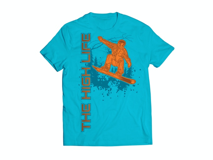 The High Life™ Snowboarder - Glacier Blue