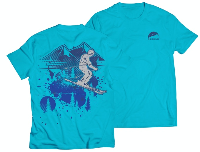 The High Life™ Skier - Glacier Blue
