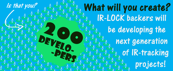 Whether your IR-project is fun & simple or useful & visionary, IR-LOCK is proud to have you as a backer. And we can't wait to see what you will create in December!
