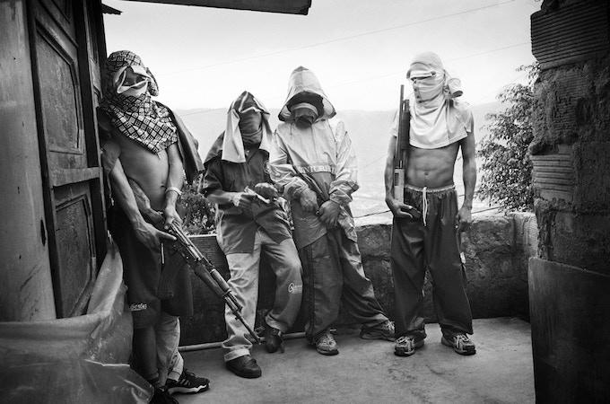 Teenage gang in Medellin, Colombia