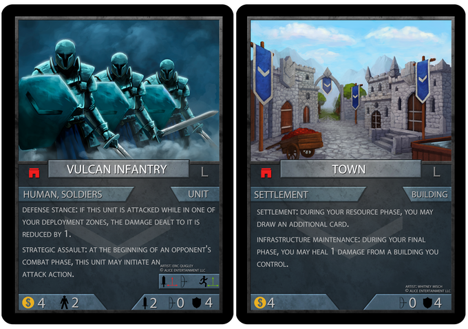 Unit and Building, cards still subject to changes
