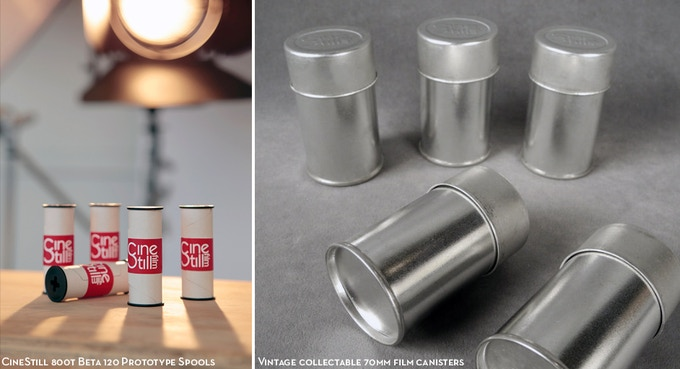 "Collectable ""Vintage 70mm canister (120 film holder)"" rewards are also available at all levels!"