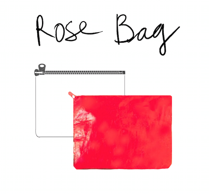 The Rose Bag is a water-resistant and stain-proof bag made of recycled rice sack. It's perfect for storing fresh Leak Free and depositing used ones.