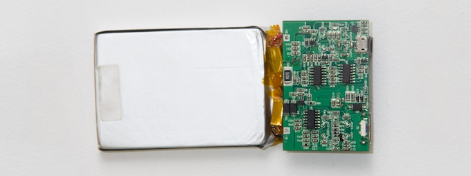 High quality lithium polymer cell paired with custom circuit board
