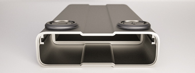 Die cast Hard-Anodized Aluminum Enclosure will withstand any abuse and accidents without damage.
