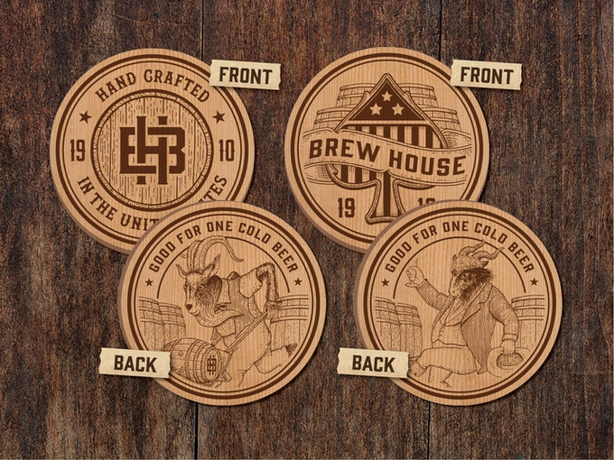 """1.5"""" x .25"""" laser engraved cherry wood tokens. Inspired by """"beer tokens"""" of the 1900s. A perfectly unique replacement for dealer coins."""