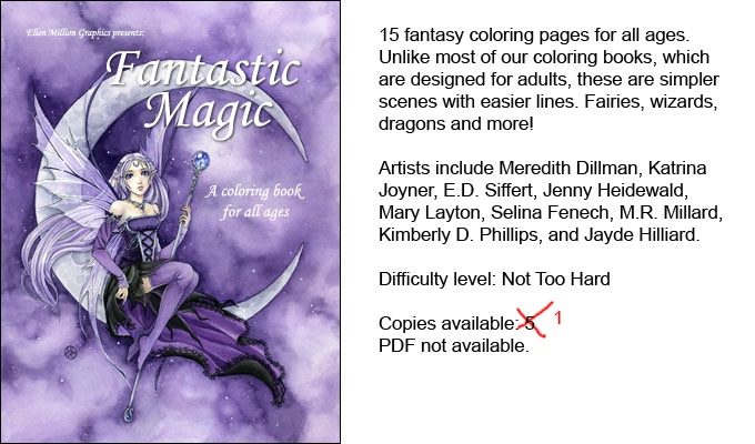 Fantasy Coloring Books for (so-called) Grown-ups by Ellen Million ...