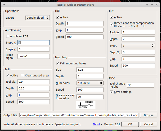 Eagle GCode ULP GUI
