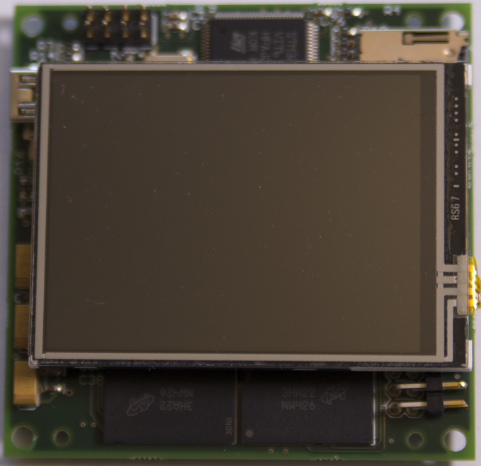 Integral touch screen LCD display for live preview and playback
