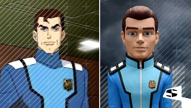Then and now: Sam Scott in the 2003 anime series (left) and in puppet form now (2014)