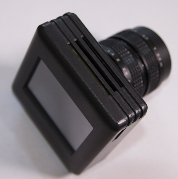The fully assembled camera