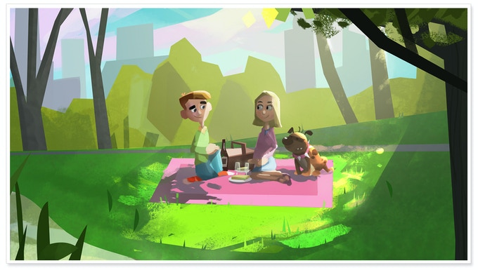'Picnic in the park' - Concept Art #2