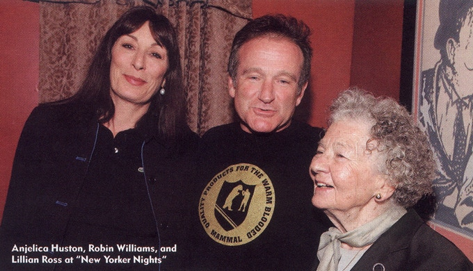 Robin Williams wearing an original Mammal Crest t-shirt in the June 2004 issue of Los Angeles magazine. He purchased the shirt at the Giant Robot store in San Francisco.