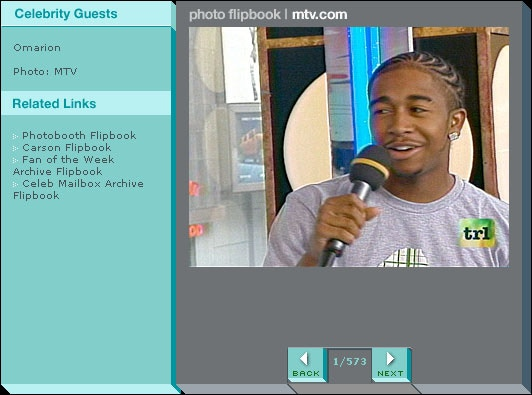 Omarion wearing a Mammal t-shirt he bought from Brooklyn Projects in LA on MTV's TRL.