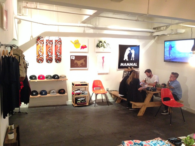 Pop-up shop at the Hotel 1171 store in Downtown LA