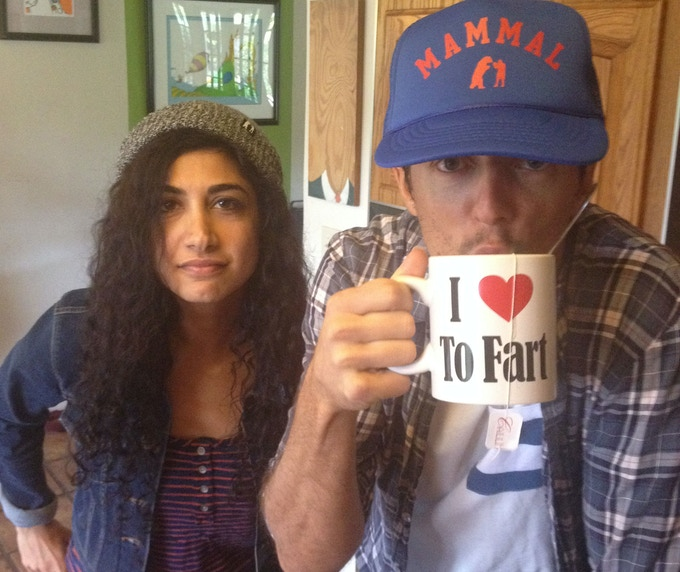 Mona Tavakoli and Jason Mraz