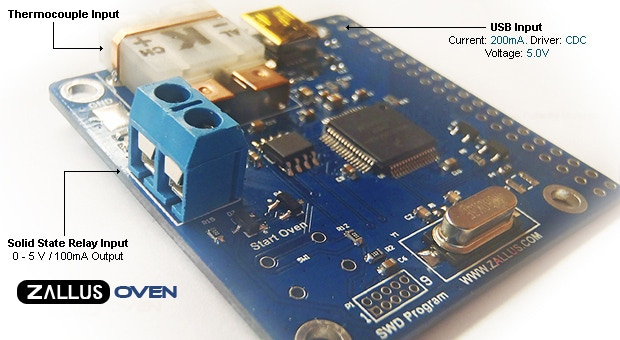 Zallus Reflow Oven Controller By Nathan Zimmerman