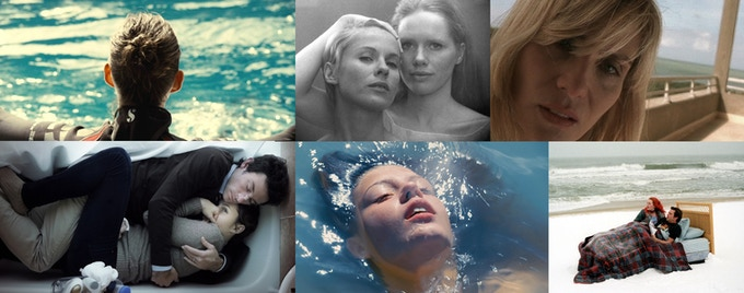 L to R: Rust & Bone, Persona, The Diving Bell & the Butterfly, Upstream Color, Blue is the Warmest Color, Eternal Sunshine of the Spotless Mind