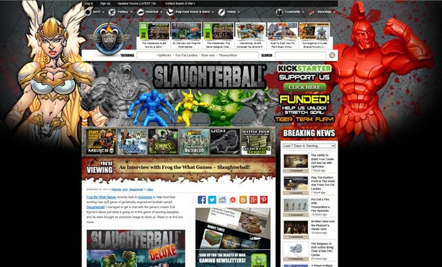 Slaughterball - Brutally Deluxe Sci-Fi Sports Board Game by Frog the