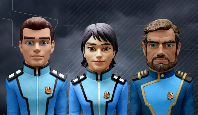 Three of our heroes (L to R): Sam Scott, Nagisa Kisaragi, and Drew McAllister