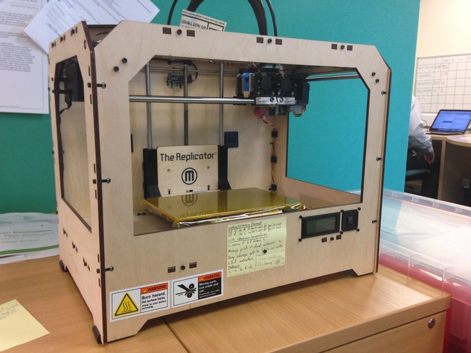 Our trusty MakerBot Replicator Dual Extruder we used to prototype the first IPSim kits