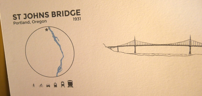 Test print of an early version of the bridge cards.