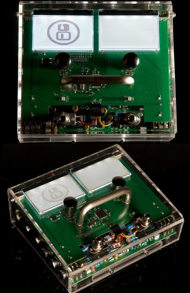 MOD Duo's transparent enclosure prototype.